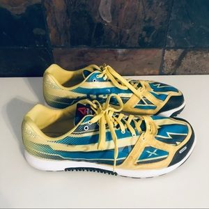 Reebok CrossFit yellow pattern shoes size 12.5